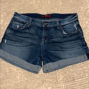 7FAM Roll Up Denim Short - size 26